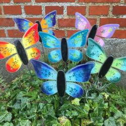 Glas sommerfugle til krukker
