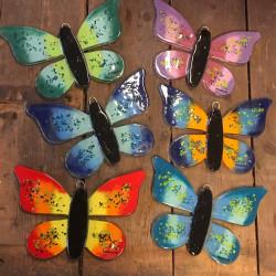 Stor sommerfugl til ophæng i glas