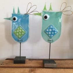 påskekyllinger i glaskunst