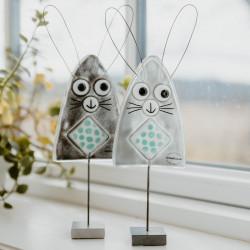 kaniner i glaskunst
