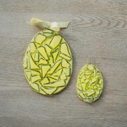 gule påskeæg i glas