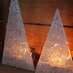 Juletræer med fyrfadslys - hvid