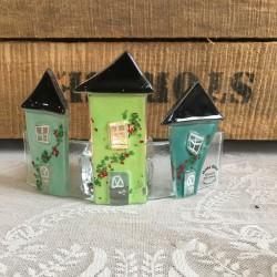 glashuse på bue grøn