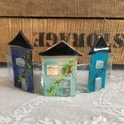 glashuse på bue blå