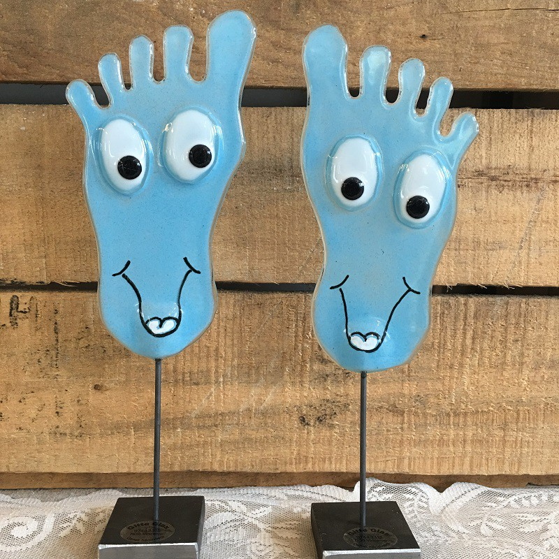 happy feet lyseblå