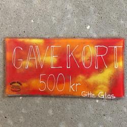 gavekort til Gitte Glas