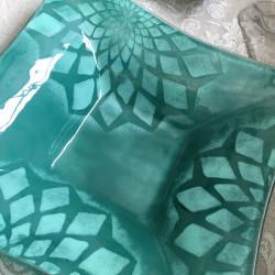 Dyb Grøn Glasskål
