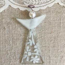 glasengel med perle hovede