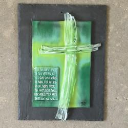 Glasbillede med den lille bibel